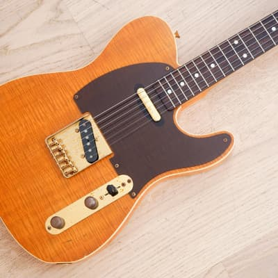 1985 Fender Telecaster Custom '62 Vintage Reissue Flame Maple Top Special Order, A Serial Japan MIJ for sale
