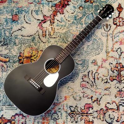 Aria 131 Parlor Urban Player Satin Black Acoustic Guitar for sale
