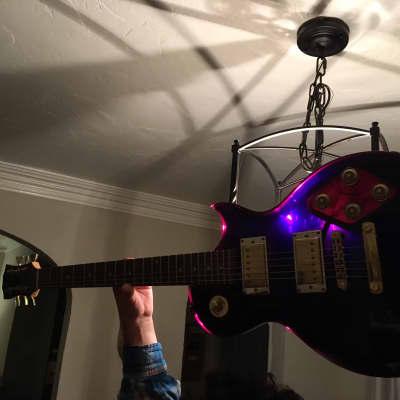 Galveston Single Cutaway Translucent Purple Lucite for sale
