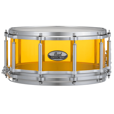 """Pearl CRB1465S Crystal Beat 14x6.5"""" Free-Floating Snare Drum"""