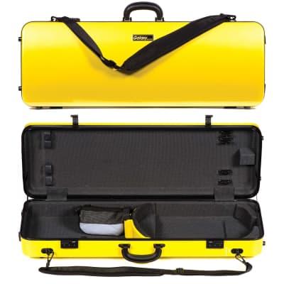 Galaxy Audio Galaxy Zenith 400SL Oblong Adjustable Yellow Viola Case with Gray Interior for sale