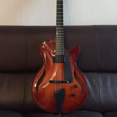 Benedetto  Bambino Elite Violin Burst with Kent Armstrong Handmade Built-In PAF for sale