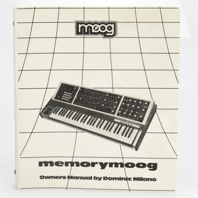 Moog Memorymoog 997-045924-001 Owners and Service Manual #39687