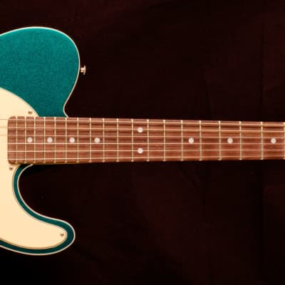 G&L Asat Classic Semi Hollow Turquoise Metal Flake for sale