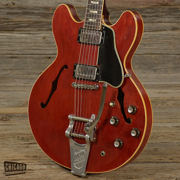 gibson es 335 cherry w bigsby 1966 s689 reverb. Black Bedroom Furniture Sets. Home Design Ideas