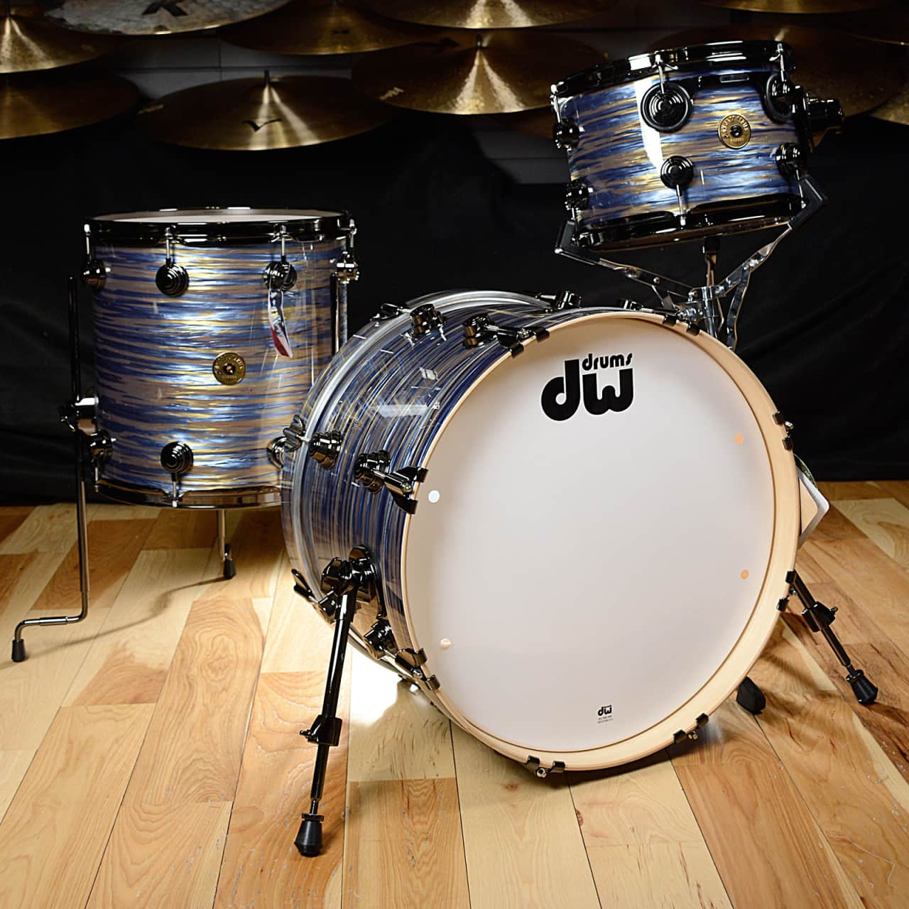 dw jazz series maple gum 12 14 20x12 3pc drum kit peacock reverb. Black Bedroom Furniture Sets. Home Design Ideas