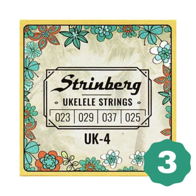 New Strinberg UK-4 Concert/Soprano Nylon Ukulele Strings (3-Pack)