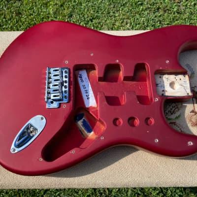Fender  Stratocaster FSR 2003 MIM Electric Guitar Body Matte Red Satin Finish Loaded w/ Hardware!
