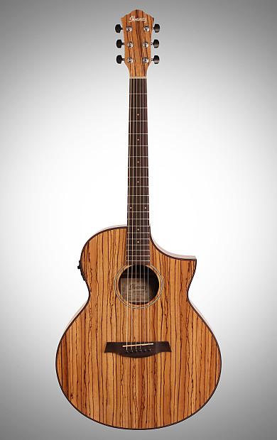 Ibanez Aew40zw Artwood Zebrawood Acoustic Electric Guitar