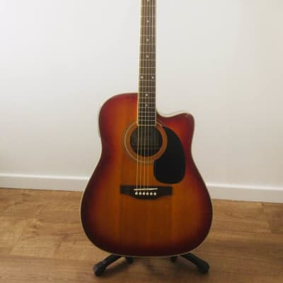 Encore CEA255R Semi-Acoustic 6 String Guitar Sunburst Fully Serviced & Set Up for sale