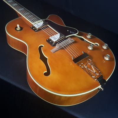 Epiphone Joe Pass Emperor II Pro Electric Guitar Vintage Natural for sale