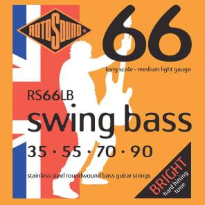 Rotosound RS66LB Swing Bass 66 Stainless Steel Bass Strings - Medium Light (35-90)