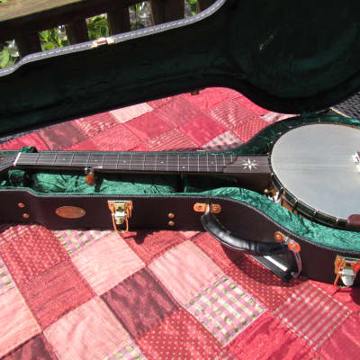 """OME Eclipse Open Back 11"""" Head. Walnut Slot Head, Short Scale, Aged Patina Metal Parts, Armrest, Cap for sale"""
