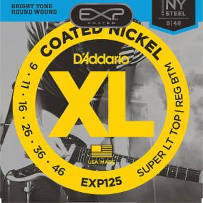 D'Addario EXP125 Coated Electric Guitar Strings, Super Light Top / Regular Bottom Gauge