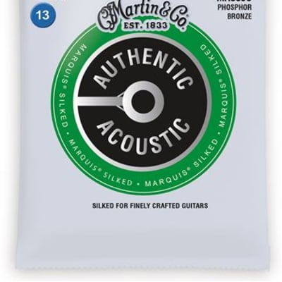 Martin MA550S Authentic Acoustic Marquis Silked Phosphor Bronze Set