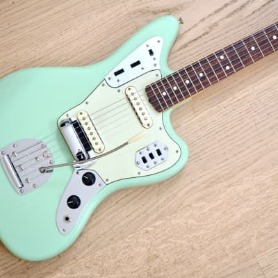 2007 Fender American Vintage '62 Jaguar Surf Green AVRI 100% Original & Near Mint w/ Case, Hangtags