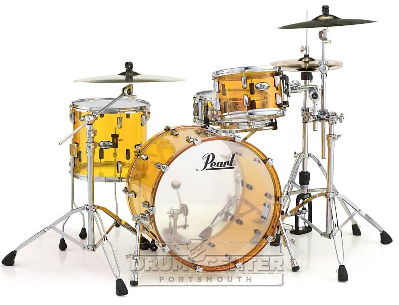 pearl crystal beat acrylic drum set 24 13 16 tangerine glass reverb. Black Bedroom Furniture Sets. Home Design Ideas