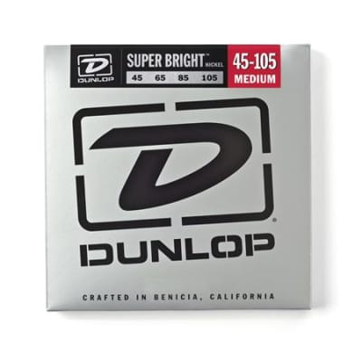 Dunlop DBSBN Super Bright Nickel Wound Bass Strings 45-105