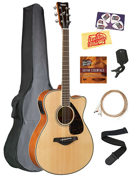 yamaha fsx820c small body acoustic electric guitar w gig bag reverb. Black Bedroom Furniture Sets. Home Design Ideas