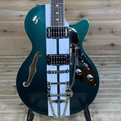 Duesenberg Alliance Mike Campbell 40th Anniversary Electric Guitar - Catalina Green/White for sale