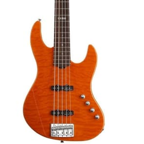 ESP E-II J-5 QM Quilted Maple 5-String Bass Amber Finish
