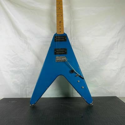 Flying V Electric Guitar Antares Electric Guitar Vintage Teal 1980s for sale