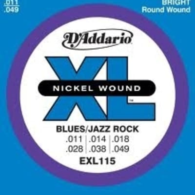 D'Addario XL115 Electric Guitar Strings - Blues/Jazz Rock