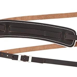 Genuine Fender Standard Vintage Adjustable Leather Guitar Strap - Black