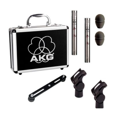 AKG C 451 B Matched Stereo Pair Silver