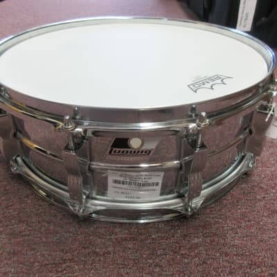Ludwig Rocker Snare Drum Black and White Badge Used