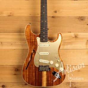 Fender Custom Shop Artisan Collection Thinline Koa Stratocaster, NOS for sale