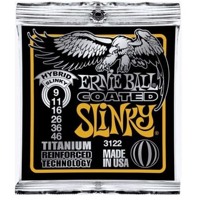 Ernie Ball 3122 Coated Titanium RPS Hybrid Slinky Electric Guitar Strings (09-46)