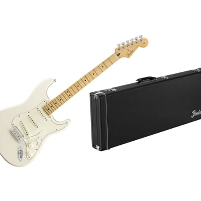 Fender Player Stratocaster - Polar White w/ Maple FB + Fender Classic Series Wood Case for sale