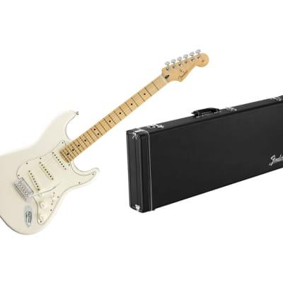 Fender Player Stratocaster - Polar White w/ Maple FB + Fender Classic Series Wood Case for sale
