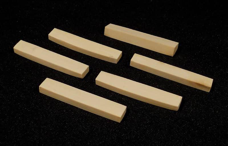 6 pcs  Woolly Mammoth Ivory Nut BLANKS for Fender etc