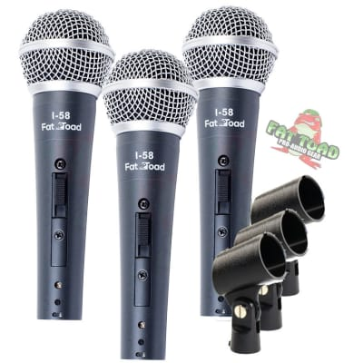 Dynamic Vocal Microphones - FAT TOAD Singing Handheld Recording Studio Mic Pack