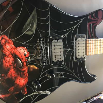 Peavey Rockmaster Predator Spiderman guitar 2013 Black/Custom Print