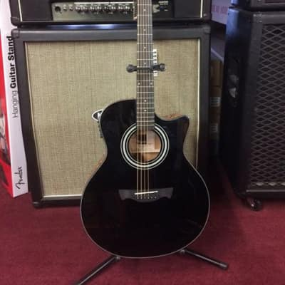 Tagima California-T Gloss Black Cutaway Acoustic-Electric Guitar #1210 [ProfRev] for sale