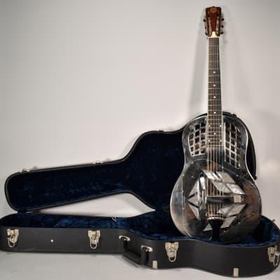 2008 National Tricone Style 1 Resonator Guitar Mirror Nickel Finish w/OHSC USA