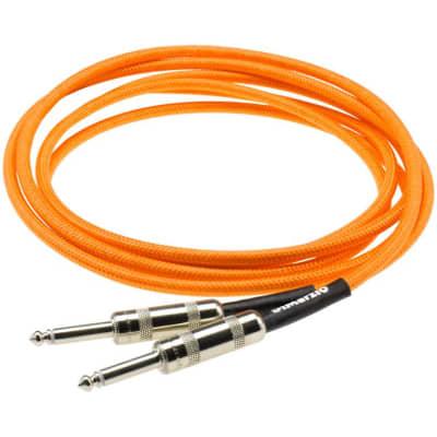 Dimarzio EP1718 18Ft Guitar Cable - Neon Orange for sale