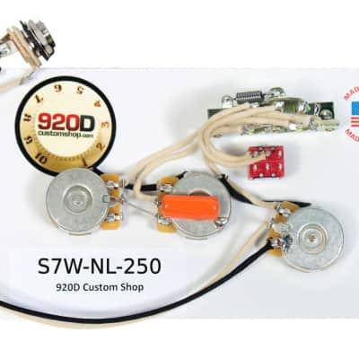 fender strat 7-way wiring kit w/2 no load 250k -  022�f