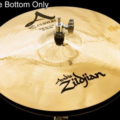 "Zildjian A20512 14"" A Custom Hi Hat - Bottom Drum Set Cymbal"