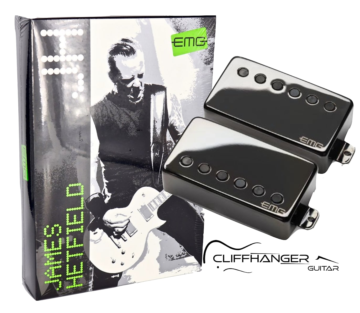EMG JH-James Hetfield Signature Pickup Set Black Chrome