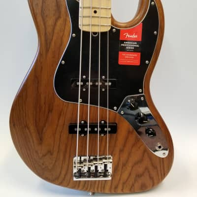 Fender Limited Edition American Professional Jazz Bass, Natural Roasted Ash, Maple Neck W/ Hard Case for sale