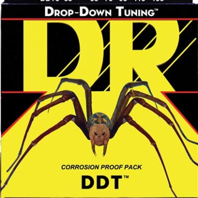 DR Strings DDT555 Drop Down Tuning 5 String Bass Guitar Strings 55-135