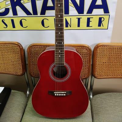 Corbin CVG36RD Red Acoustic Guitar for sale