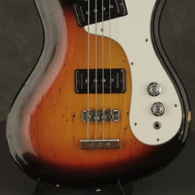 original 1960's Mosrite V2 V  II Bass Sunburst for sale