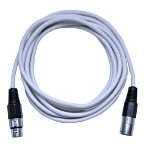 Seismic Audio 10 Foot White XLR to XLR Patch Cable - 10' XLR Patch Cord