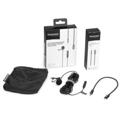 Saramonic LAVMICROU1B Omnidirectional Lav Mic with 6m Cable for iOS Devices