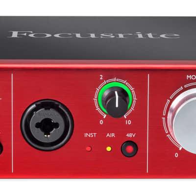 Focusrite Clarett 2Pre USB Audio Recording Interface w/ 2 Mic Preamps For PC+MAC